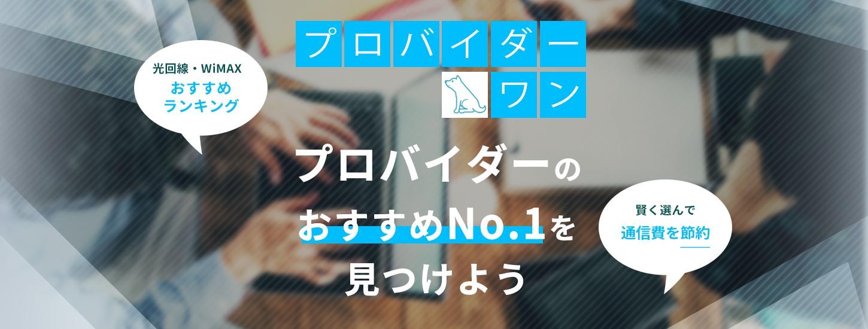 プロバイダー・ワン プロバイダーのおすすめNo.1を見つけよう